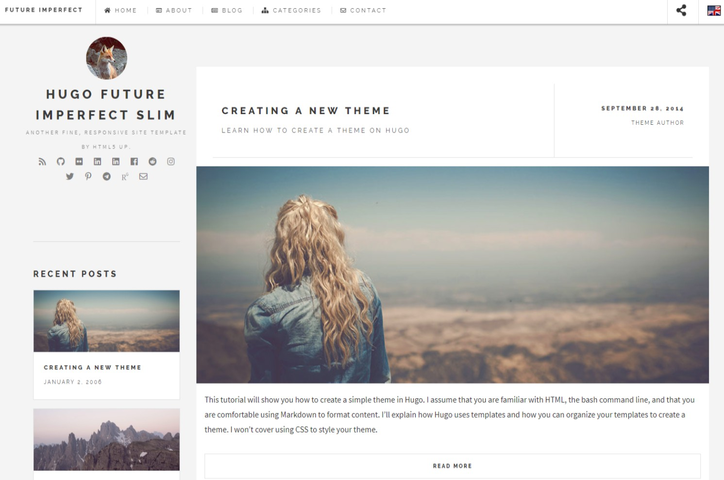 Multilingual Blogging Theme for Hugo
