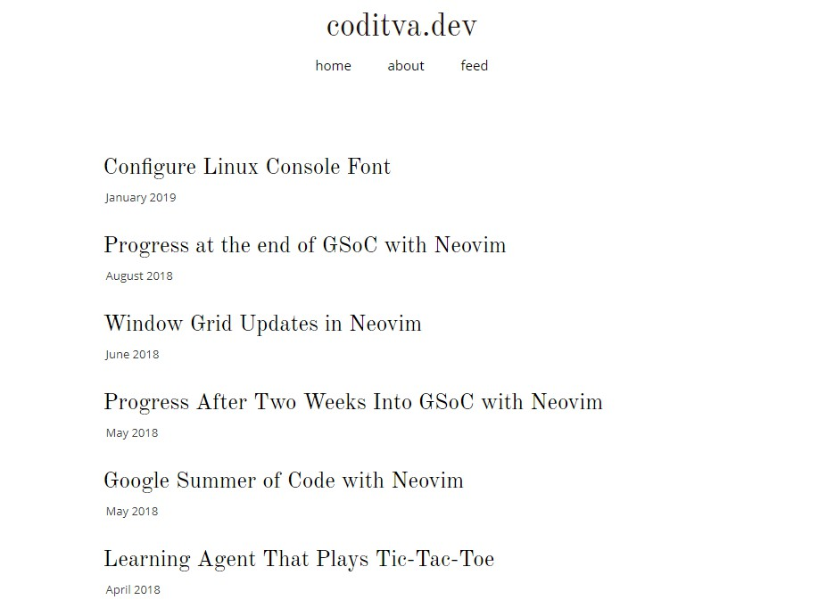 Personal website coditva dev